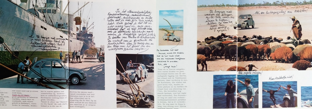 Brochure Zwerftocht van een 2CV