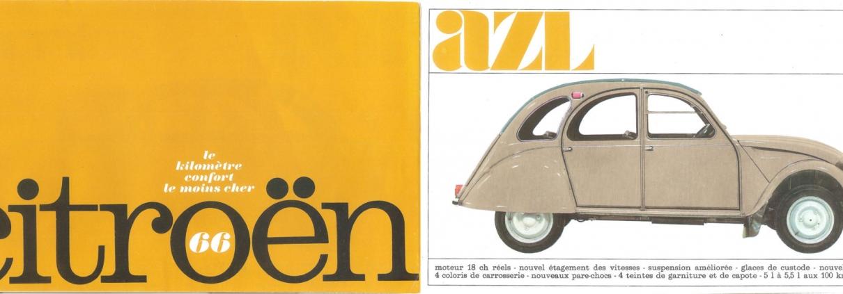 Folder Modeljaar 1966 en datum uitgifte 7-1965