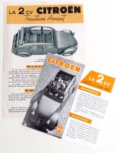 Folders Franse 2CV's jaren '50
