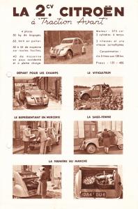 Franse folder 2CV 1949